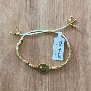 Madewell Gold color Happy Face bracelet